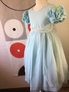 ◆送料お得プラン商品◆(G-130-25)白雪姫風ドレス130cm