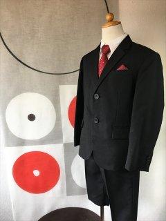 (B-130-12)コムサイズムスーツ(赤)130cm