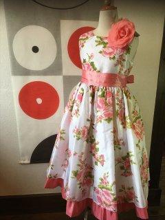 ◆送料お得プラン商品◆(G-140-15)花柄のドレス140cm