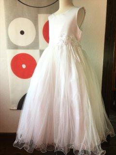 ◆送料お得プラン商品◆(G-140-17)白のドレス140cm