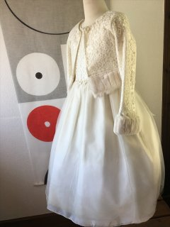 ◆送料お得プラン商品◆(G-130-38)ボレロ付きドレス130cm
