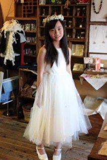 (G-140-4)ラインストーンのドレス140cm