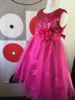 (G-120-104)スパンコールのドレス120cm
