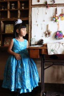 (G-120-110)スパンコールのドレス120cm
