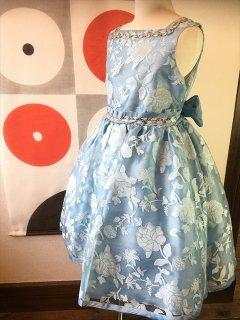 (G-140-29)花柄のドレス140cm