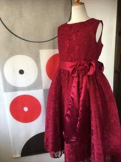 (G-150-45)真っ赤なレースのドレス150cm