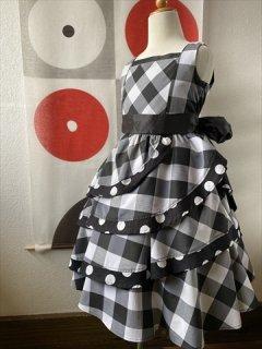 (G-120-123)チェックのドレス120cm