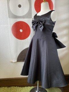 (G-120-22)bebeのブラックのドレス120cm