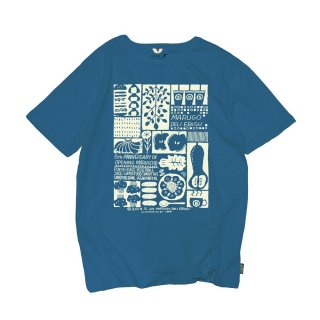 【marugo×GOHEMP】8th ANNIVERSARY T-shirts(Blue)