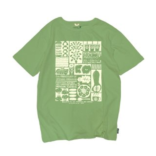 【marugo×GOHEMP】8th ANNIVERSARY T-shirts(Green)