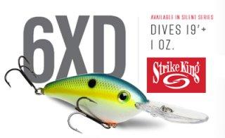 Strike King/Pro Model 6XD Crankbaits