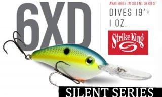 Strike King/ Pro Model 6XD Silent Crankbaits