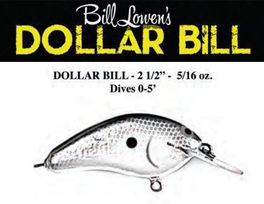 Custom Balsa Crankbait Perch Color PH Custom Lures Lowen/'s Dollar Bill