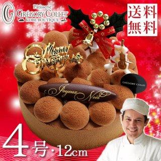 【送料無料】クリスマスケーキ『ノエル・アプソリュ 12cm』★ (4号・2〜3名様用)【冷凍便発送】