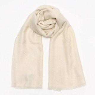 SURI◇手織り ハンドメイド◇カシミヤ/パシュミナ100%|ストール|ソリッド(無地)|オフホワイト
