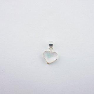 Silver Pendant|天然(マザーオブパール)付 ハート型 スターリングシルバー(SV925)ペンダントトップ