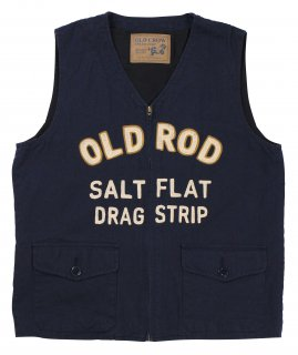 OLD CROW [-OLD ROD - VEST- NAVY size.S,M,L,XL]