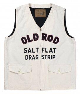 OLD CROW [-OLD ROD - VEST- IVORY size.S,M,L,XL]