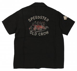 OLD CROW [-SPEEDSTER - S/S SHIRTS- BLACK size.S,M,L,XL]
