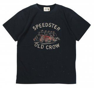 OLD CROW [-SPEEDSTER - S/S T-SHIRTS- BLACK size.S,M,L,XL]