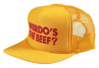 WEIRDO [-Weirdo's the Beef? - MESH CAP- YELLOW]
