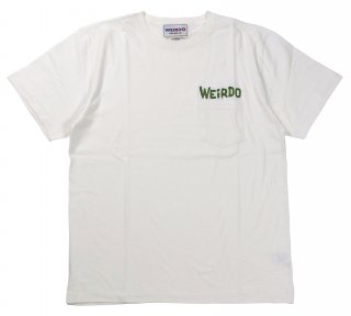 WEIRDO [-WEIRDO DAILY - S/S T-SHIRTS- WHITE×GREEN size.S,M,L,XL]