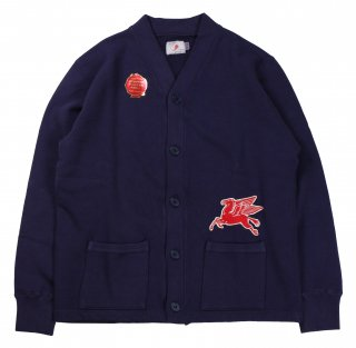 TROPHY CLOTHING [-OD Sweat V Cardigan- Navy size.36,38,40,42]