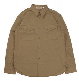 TROPHY CLOTHING [-Safari Shirt- Beige size.14,15,16,17]