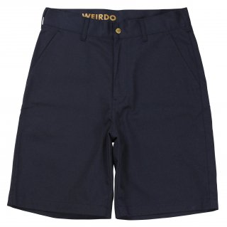 WEIRDO [-W & L UP - SHORTS- NAVY size.30,32,34,36]