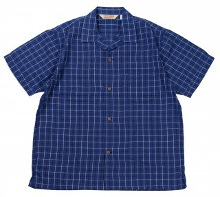 TROPHY CLOTHING [-Long Beach Check Shirt- Blue size.14,15,16,17]