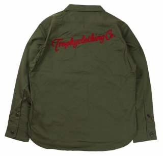 TROPHY CLOTHING [-Gas Worker Shirt- Green size.14,15,16,17]