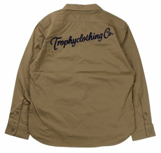 TROPHY CLOTHING [-Gas Worker Shirt- Beige size.14,15,16,17]