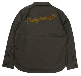 TROPHY CLOTHING [-Gas Worker Shirt- Charcoal size.14,15,16,17]