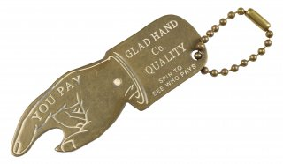 GLAD HAND & Co. [-GH YOU PAY SPINNER - KEY FOB- WHITE]
