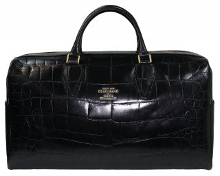 PORTER × GLAD HAND [-GH - BAGGAGE BOSTON BAG- CROCOLIKE BLACK (M)]