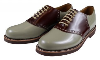 REGAL × GLAD HAND [-MEN'S SADDLE - SHOES- GRAY×BROWN size.26,26.5,27,27.5,28]