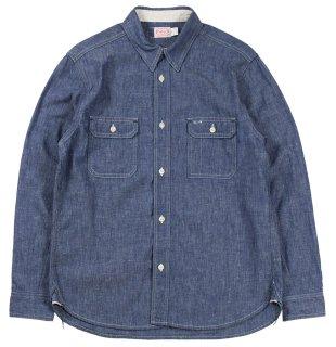 TROPHY CLOTHING [-Harvest Shirts- Indigo size.14,15,16,17]