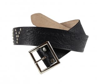 TROPHY CLOTHING [-TROPHY Studded Belt- Black w.30,32,34,36,38]