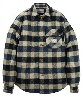 WEIRDO [-TIGER ROD - L/S QUILTING CHECK SHIRTS- BLUE size.S,M,L,XL]