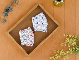 【 送料無料 】 花柄デザインがかわいいコットン布マスク
