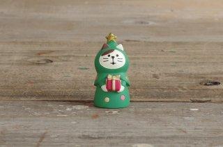 concombre クリスマスマスコット ねこずきんツリー
