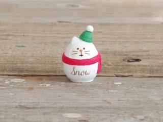 concombre クリスマスマスコット 雪猫だるま
