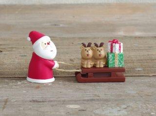 concombre クリスマスマスコット サンタとトナカイそり