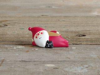 concombre クリスマスマスコット 冬太りサンタ 猫とゴロ寝