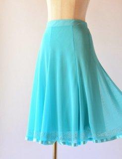 メッシュ素材シャインスカート