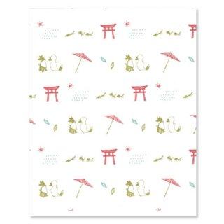 懐紙10枚 (狐の嫁入り)