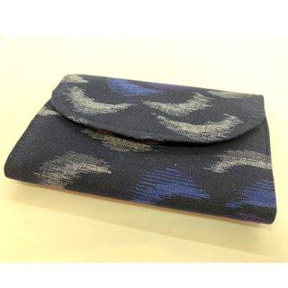久留米かすり カードケース 黒青