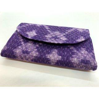 久留米かすり カードケース 紫