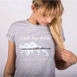 ホースTシャツ CYF グレー