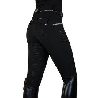 バンブーテクニカルストレッチ シリコンフルシートキュロット 黒